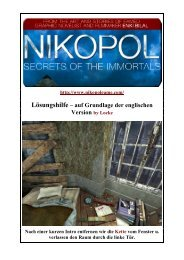 Nikopol - Lockes bebilderte Lösung zum 1. und 2 - Gamepad.de