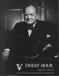 ' . FINEST HOUR - Winston Churchill
