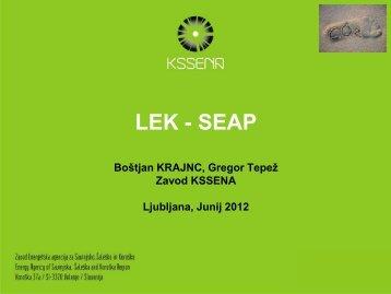 Priprava LEK in SEAP, primer iz prakse MO - Skupnost občin Slovenije