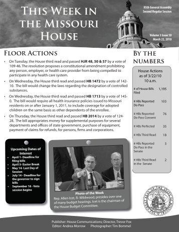 March 22, 2010 - Missouri House of Representatives