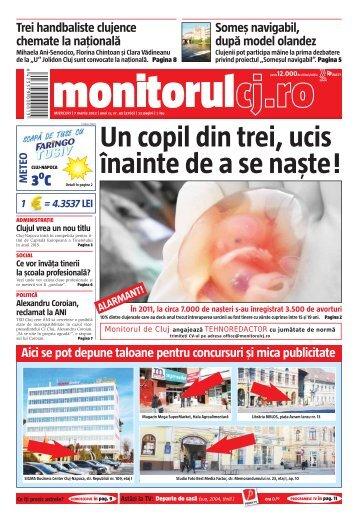 Un copil din trei, ucis înainte de a se naşte ! - Monitorul de Cluj