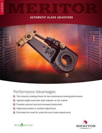 automatic slack adjusters - Meritor