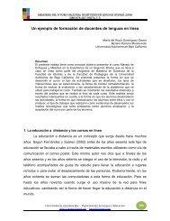 Un ejemplo de formación de docentes de lenguas en línea - Foro de ...