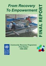 FIN A L R EP O R T - UNDP