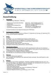 Ausschreibung Finn SM 2013.pdf - Yacht Club Zug