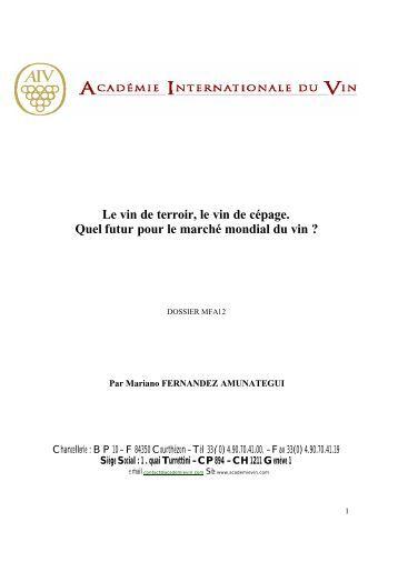 les vins de terroir et les vins de cépage. - Academia-vinhaevinho.com