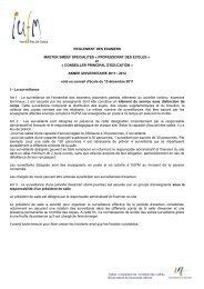 Règlement des examens Master SMEEF spécialités - IUFM