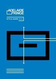 Style guide 2014 - Adelaide Fringe