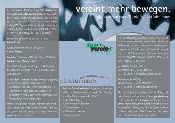 vereint mehr bewegen. - STV Steinach
