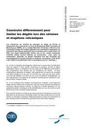 Communiqué de presse - CNRS Alsace