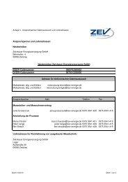 Anlage 3 - Ansprechpartner - ZEV Zwickauer Energieversorgung ...