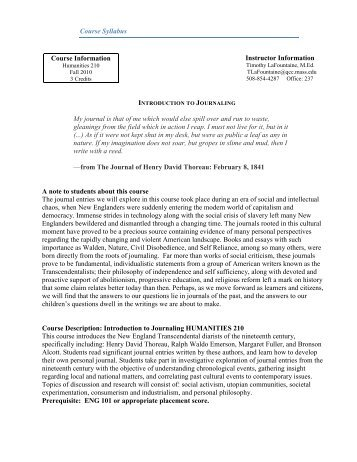 Course Syllabus Course Information Instructor Information My ...