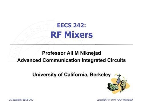 EECS 242: RF Mixers - Ali M  Niknejad