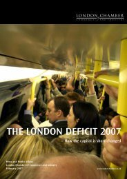 the london deficit 2007 - London Chamber of Commerce and Industry