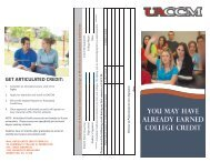 High School Articulated Courses - University of Arkansas ...