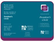 President's Circle Brochure - Roseville Chamber of Commerce