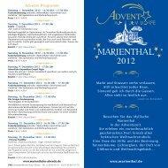 Advents-Programm - Marienthal