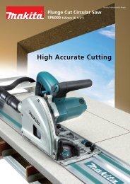 High Accurate Cutting - Makita