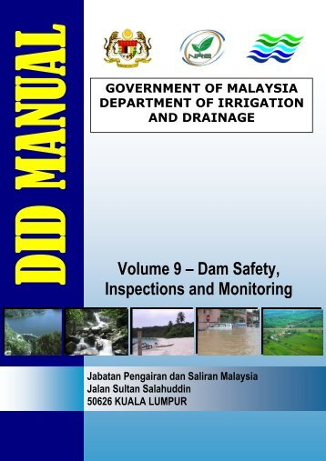 Volume 9 – Dam Safety, Inspections and Monitoring - Malaysia Geoportal