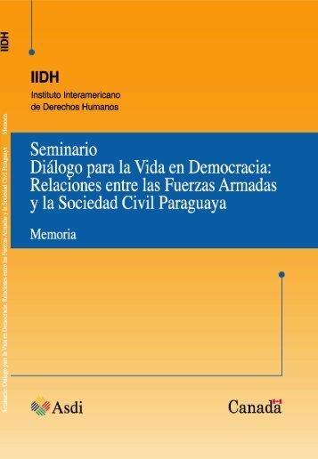 relaciones entre las fuerzas armadas y la sociedad civil - IIDH