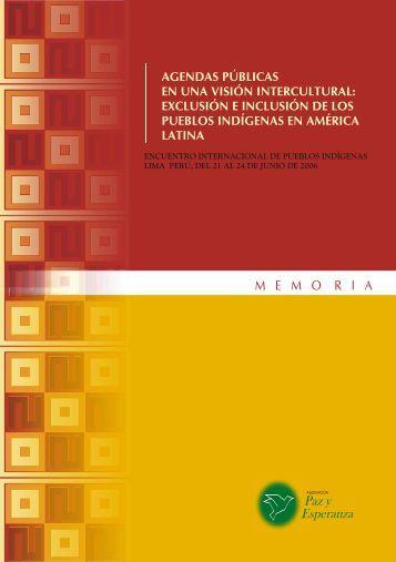 Memoria Agendas Publicas - IIDH