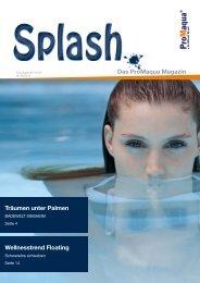 Splash - Das ProMaqua Magazin - ProMinent