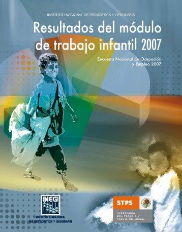 Resultados del módulo de trabajo infantil 2007 - Secretaría del ...