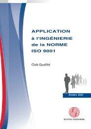 Guide Application à l'Ingénierie de la Norme ISO 9001 - Accueil