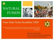 Natural Fusion - Penn State Institutes of Energy and the Environment
