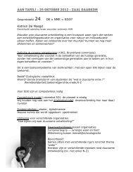 Verslag tafel 24 Katrien De Maegd - Studio Globo