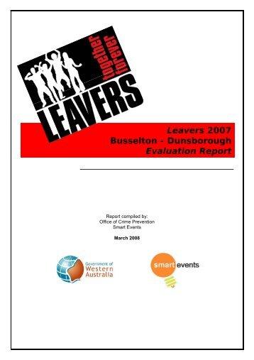 Report - 2007 Dunsborough Leavers - City of Busselton