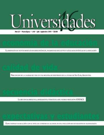 Revista Universidades Número 46, Julio - Septiembre de 2010 - udual