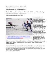 Ein Blondschopf als Hoffnungsträger - Skiclub Hinterzarten