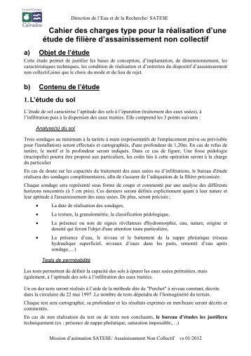 Cahier des charges type pour la réalisation d'une étude de filière d ...