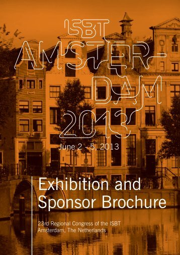 Exhibition and Sponsor Brochure - International Society of Blood ...