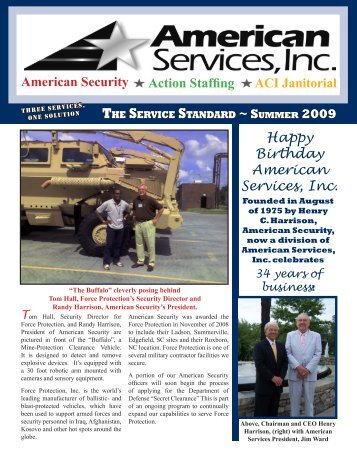 July 2009 - American Services, Inc.