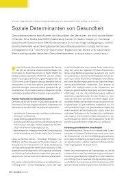 Soziale Determinanten von Gesundheit - Bkk-bv-gesundheit.de