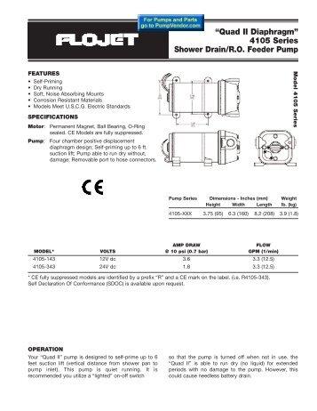 Flojet Quad II 4105 series - Depco Pump Company
