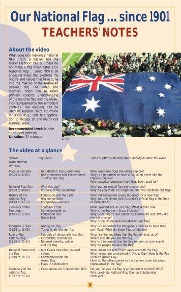 Our National Flag … since 1901 TEACHERS' NOTES - Australian ...