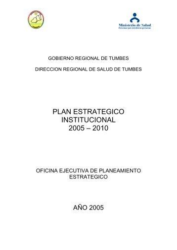 plan estrategico institucional 2002 – 2006 - Gobierno Regional ...