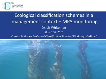 Ecological classification schemes in a management context – MPA ...