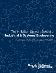 The H. Milton Stewart School of Industrial & Systems Engineering