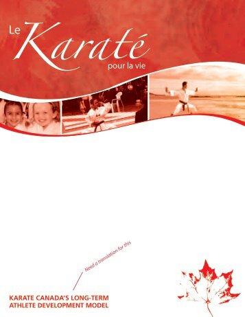 Le karaté pour la vie - Karate Canada