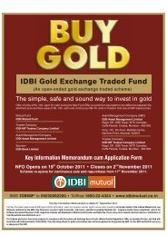 IDBI Gold Exchange Traded Fund - Emkay Global Financial ...