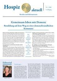 Gemeinsam leben mit Demenz - Förderverein Hospiz Rendsburg eV