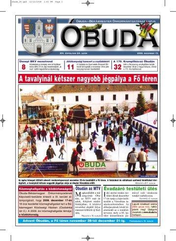 Óbuda újság 2007/24. szám - Óbuda-Békásmegyer