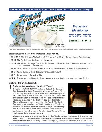 Torah Explorers - Unleavened Bread