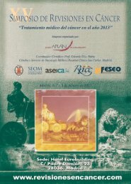 Programa XV Simposio Revisiones en Cáncer 2013 - Red Temática ...