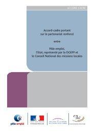 Accord-cadre portant sur le partenariat renforcé ... - Emploi.gouv.fr