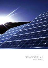 SOLARPARK I + II - Vario green energy Concept GmbH